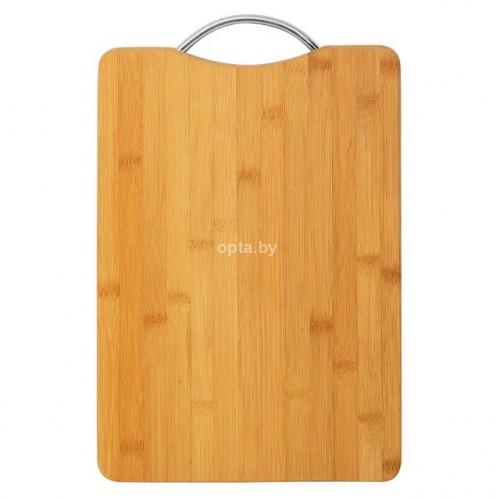 Доска разделочная деревянная с алюминиевой ручкой (24*34 см)