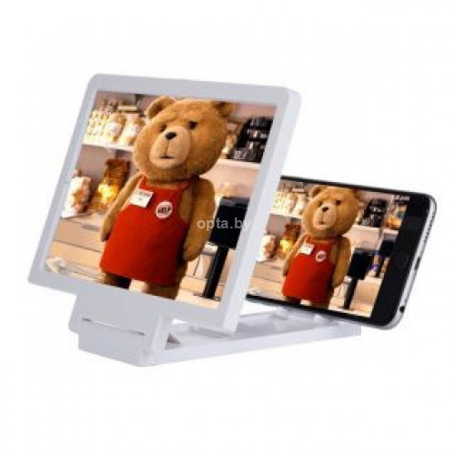 Расширитель экрана с эффектом 3D enlarged screen F1 белый