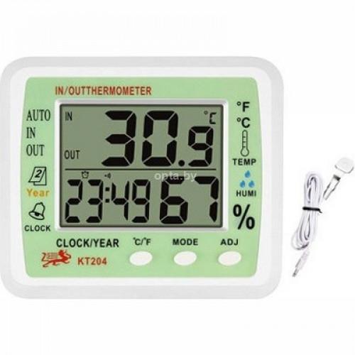 Электронные часы-термометр KT204