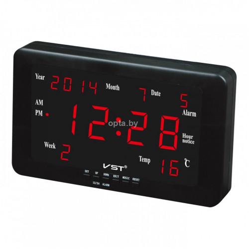 Электронные часы VST-802W LED ALL AGES CALENDAR CLOCK