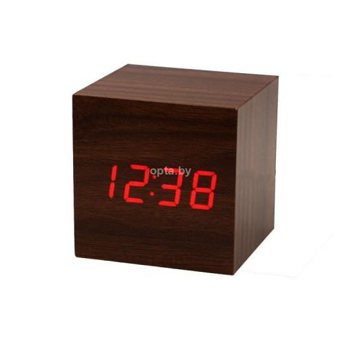 Часы электронные в деревяном корпусе VST-869