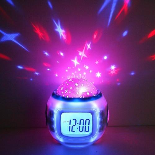 Музыкальный будильник с проекцией MUSIC AND STARRY SKY CALENDER 1038