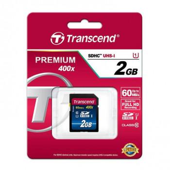 Карта памяти MicroSDXC UHS-I transcend premium 2 ГБ