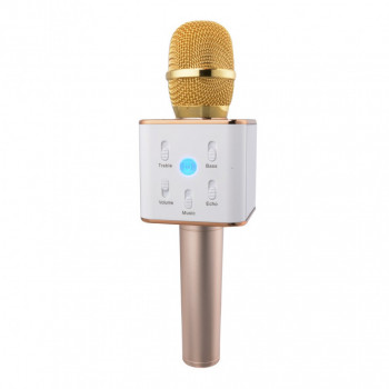Беспроводной караоке микрофон со встроенной колонкой Tuxun Q9