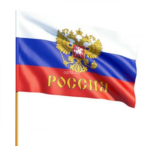 Флаг РФ с гербом (16х24см)