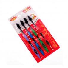 Комплект бамбуковых зубных щеток Guanbo (Гуанбо) (4 шт)