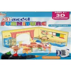 Набор для 3D моделей Kitchen set 6+ 1076/24