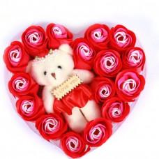 Набор мыло ароматизированное + игрушка I Love You (15 шт)