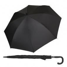 Зонт-Трость мужской, черный, полуавтомат, длина 84 см