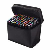 Набор двухсторонних маркеров для скетчинга 60 цветов в чехле