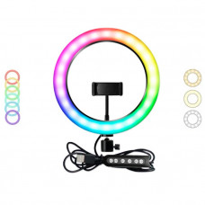 Светодиодная кольцевая лампа MJ-33 (цветные)