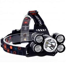 Налобный фонарик High power headlamp 5 x cree T6