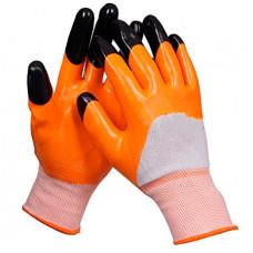 Перчатки нейлоновые с частичным нитрильным покрытием (147gr)