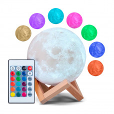 Ночник-светильник с пультом 3D Moon Light 12 см