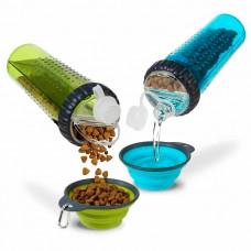 Бутылка двойная для воды и корма для животных