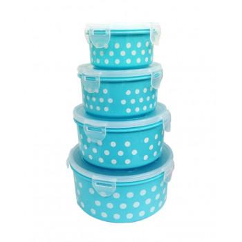 Набор пищевых пластиковых контейнеров с крышками