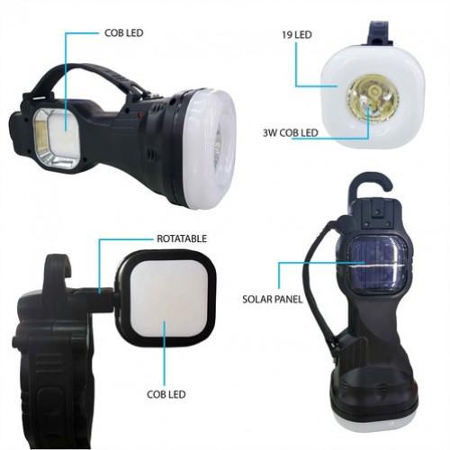 Многофункциональный фонарик с солнечной батареей multi function working lamp YD-105A