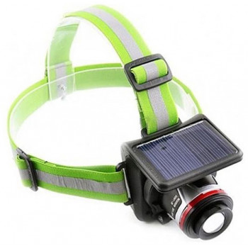 Налобный фонарь с солнечной батареей BL-855