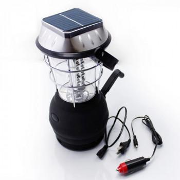 Кемпинговый динамо-фонарь + солнечная панель и зарядник, vol.3 mini