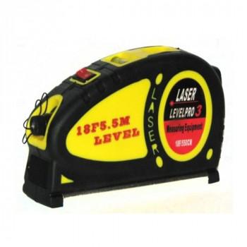 Рулетка 5м. с лазером и уровнем LV-05 LEVELPRO 3 LASER