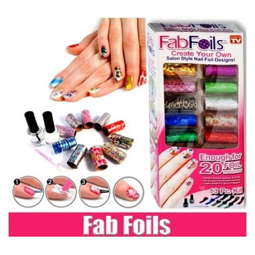 Дизайн ногтей Fab Foils