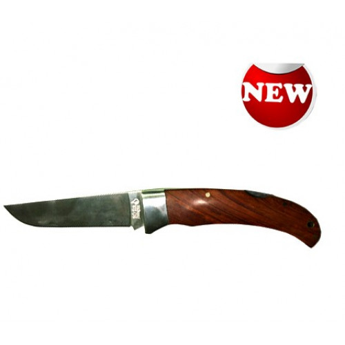 Нож складной с деревянной узорной ручкой
