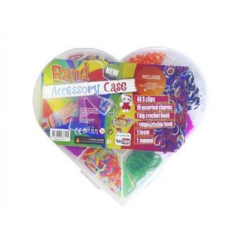 Мини-набор резинок в форме сердца