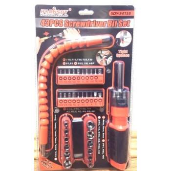Набор инструментов SDY-94158 (43 насадки)