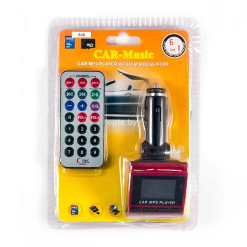 FM Модулятор с дисплеем и пультом FM-816 CAR MP3 PLAYER