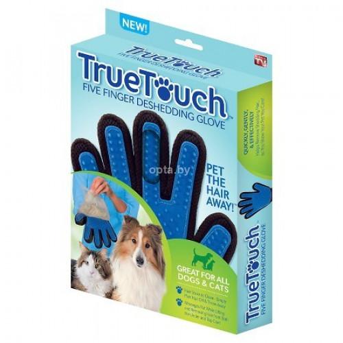 Перчатка для вычесывания шерсти домашних животных True Touch Собка
