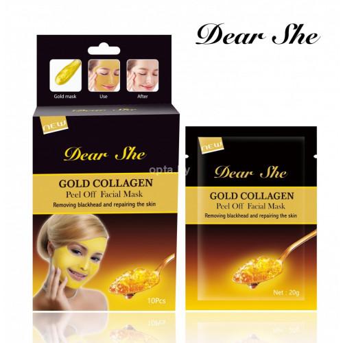 Маска для лица Dear She gold collagen